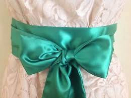 satin sash belt 3 5x100 emerald green satin sash belt self tie bow fabric ribbon