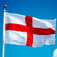 Flag White With Red Cross St George Is Known By His Emblem Of A Red Cross On A White