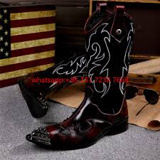 knee high motorcycle boots plus size 38 46 goth punk rock man u0027s knee high motorcycle boots