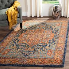 Grey And Orange Area Rug Awesome Orange Area Rugs Roselawnlutheran Intended For Blue And