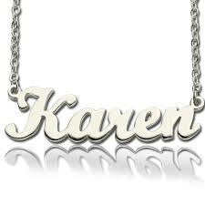 Personalized Script Necklace Script Name Necklace Sterling Silver