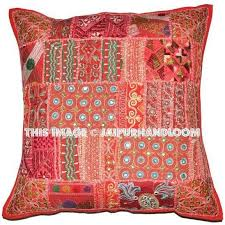 Large Sofa Pillows by Large Bohemian Patchwork Sofa Pillows In Square Shape Patio Cushions