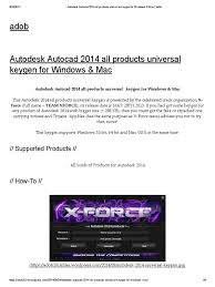 autodesk autocad 2014 all products universal keygen for windows
