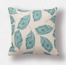 fluffy feather print pillow cover for couch soft sofa cushion
