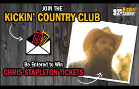 chris stapleton fan club join the kickin country club to win chris stapleton tickets 92 5