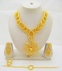 gold plated necklace set images Gold plated jewelry set the best photo jewelry jpg