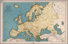 Europe Outline Map by Rand Mcnally Map Of Europe David Rumsey Historical Map Collection