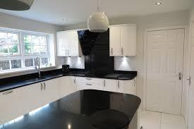 signature porter white gloss and black quartz worktops tecaz