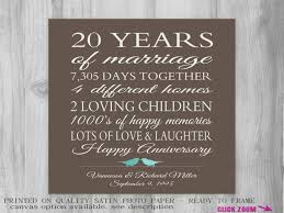 20th anniversary gift 20 year anniversary gift for parents 20th anniversary present what
