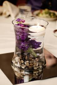 Walmart Wedding Flowers - combine any size glass vase with river rock a stem of live flower