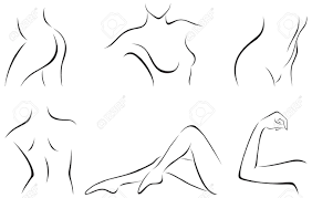 set of stylized female body parts royalty free cliparts vectors