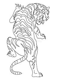 japanese tiger tattoo design vector stock vector image 99548951