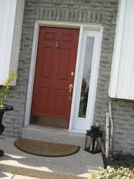 Front Door Colors For Gray House Burnt Orange Front Door Grey Siding Orange Door And Doors