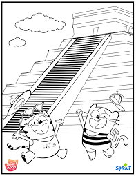 mexico coloring page the ollie and moon show sprout