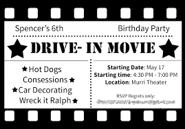 movie night invitations template black and white theme party invitations gallery party