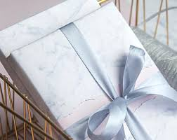 marble wrapping paper marble gift wrap etsy