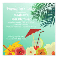 hawaiian birthday invitations u0026 announcements zazzle