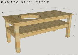 How To Make A Wooden End Table by Diy Kamado Grill Table