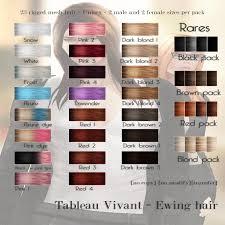 tableau vivant u2013 ewing hair color chart u2013 tableau vivant