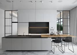 black and white kitchens black white grey wood kitchen with