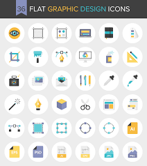 design icons 36 flat graphic design icons free invision