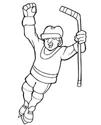 hockey coloring pictures playing hockey coloring pages winner