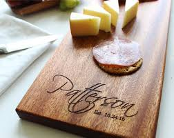 monogrammed cheese plate wood cheese board etsy