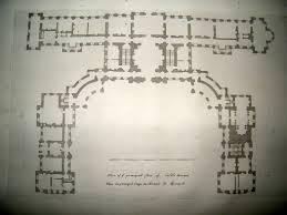 castle howard york plan of principle floor england 1