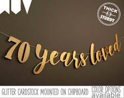 70th birthday party ideas 70th birthday etsy