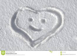 heartfelt message in snow stock photo image of message 4114720