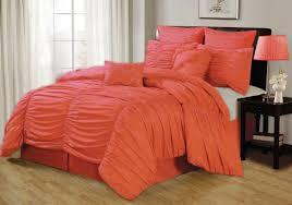 bedroom fascinating comforter coral bedding on dark brown wood