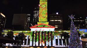 brisbane city hall christmas lights show youtube