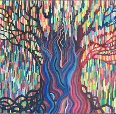 print rainbow weeping willow tree high quality