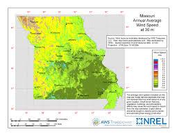 missouri map data windexchange wind energy in missouri