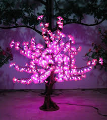 led outdoor tree lightpink azalea petals high imitation tree lamp