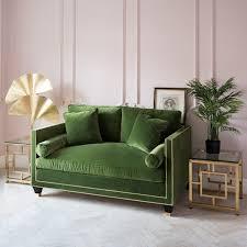 Green Sofa Bed Hatfield Designer Sofa Collection Gold Studs Choose Fabric