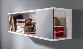 etagere murale chambre étagère murale à fixer en bois blanc et gris graphite chambre ado