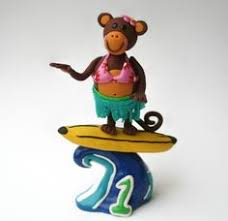 pirate boy on pirate ship birthday cake topper by spiritmama