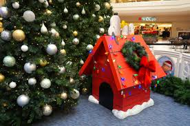 snoopy doghouse christmas decoration peanuts themed palace launches season at westfarms we