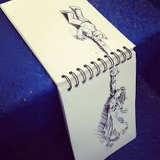artists creates humorous doodles and sketches that play with their