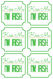 Free Printable Halloween Tags For Gift Bags by St Patricks Day Gift Idea Kiss Me I U0027m Irish