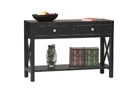 black console table with storage furniture appealing black console table design with 2 drawers and