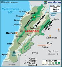 lebanon on the map lebanon map geography of lebanon map of lebanon worldatlas
