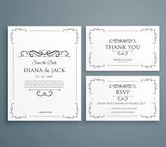 wedding invitation set wedding invitation set vector free