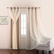 Light Block Curtains Nicetown 2 Layers Light Blocking Mix Match Elegance Beige