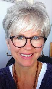 pictures haircuts for women over 60 with glasses women black