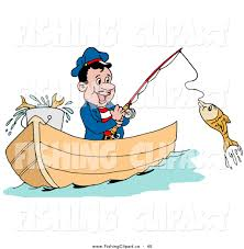 fishing boat clipart person fishing pencil and in color fishing