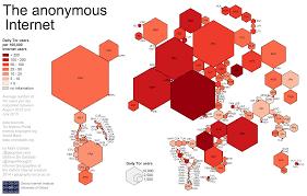 Cartogram Map Tor Hexagons Png