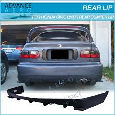 honda civic rear for 92 95 honda civic 2 4 door hc1 style pp polypropylene rear