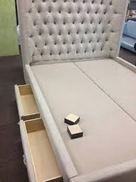 Tufted Bed With Storage Beautiful Etsy Upholstered Headboards 97 About Remodel King Size
